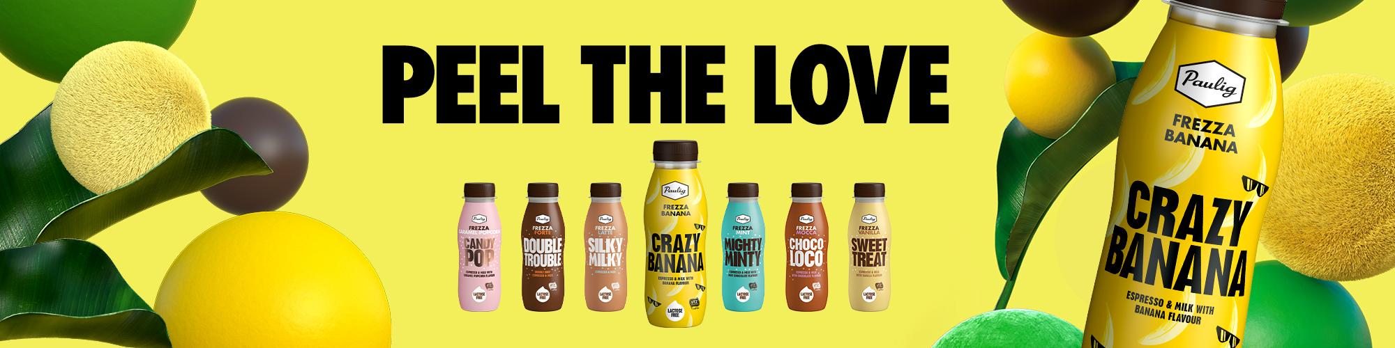 Frezza-pullot keltaisella taustalla