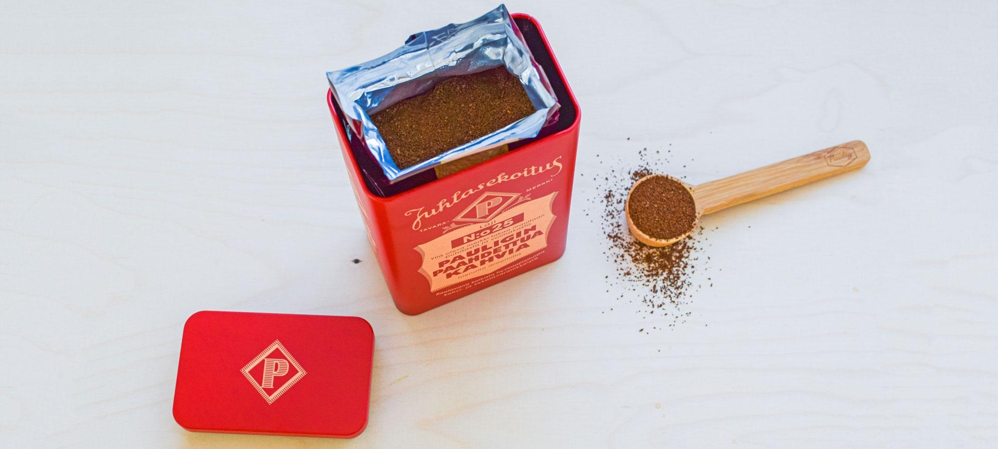Säilytä kahvipakettia omassa pakkauksessaan ja ilmatiiviissä rasiassa