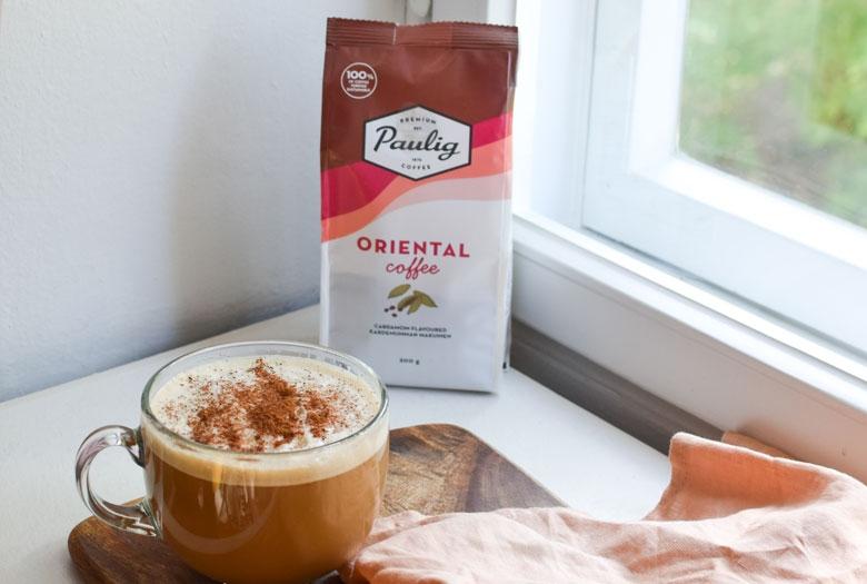 Mausteinen oriental coffee sopii mausteisiin kahvijuomiin