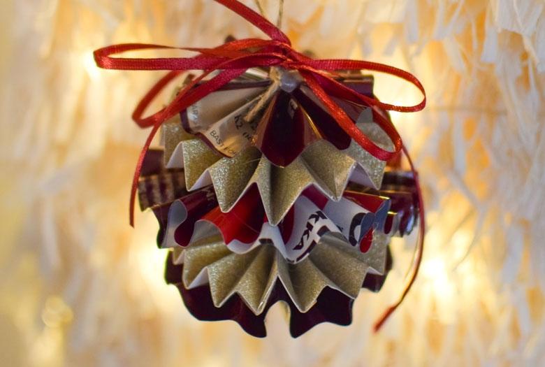 Askartele helppo DIY-joulukoriste käytetystä kahvipakkauksesta