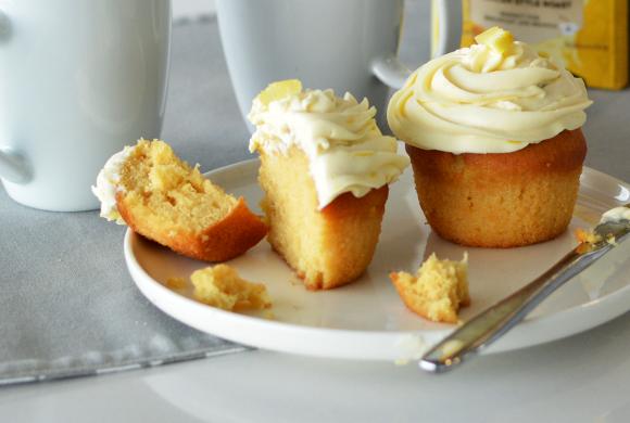 Sitruunainen cupcake
