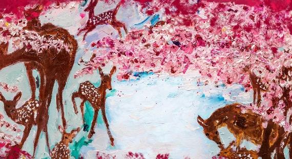 Juhla Mokka -äitienpäiväkahvin pääosassa Kiti Kokkosen lämmin runo ja Manuela Boscon maalaus
