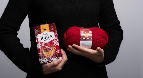 Juhla Mokka kääriytyy jouluneuleeseen – Kahvi ja pehmeät paketit taikovat joulun tunnelman
